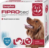 Beaphar Fiprotec Vlooien- en Tekenmiddel Hond 10-20 kg - 4 Pipetten