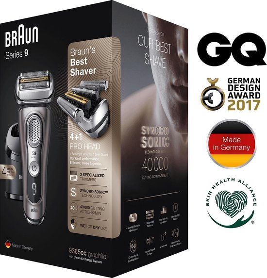 Braun Series 9 9365cc - Elektrisch Scheerapparaat - Grafiet