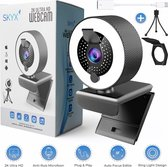 -2K Webcam met Ring Licht Auto Focus Edition - Licht Ring Webcam met Microfoon - Webcam met Klepje - Streaming Webcam - UHD webcam - Meeting Conference - Anti Ruis Webcam - Windows & Apple/Mac  - Vergaderingscamera - Twitch - Teams - Zoom-aanbieding