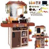 speelkeuken (INCL keukenspullen) voor Kinderen met Licht en Geluid - Speelgoedkeuken - Kinder keuken