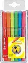 STABILO flash - Markeerstift - Penmodel - Etui Met 6 Kleuren