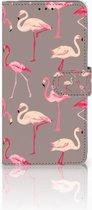 Samsung Galaxy A9 2018 Wallet Bookcase Hoesje Flamingo