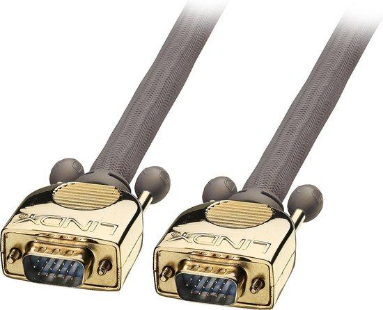 Lindy VGA Kabel M/M GOLD 2m