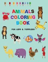animals toddler coloring book