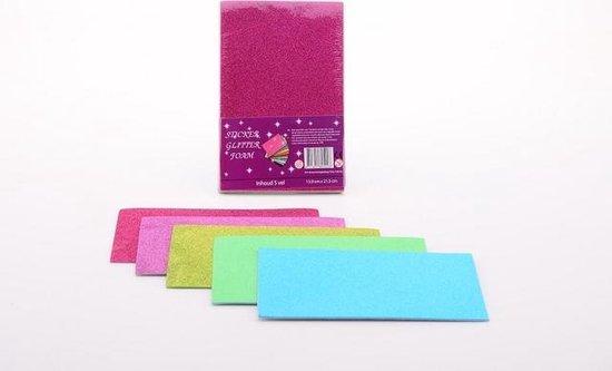 Verbazingwekkend bol.com | Foam Papier Glitter - Vilt Knutselen 5 vellen CC-49
