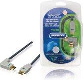 Bandridge HDMI 1.4 High Speed with Ethernet kabel haaks naar rechts - 3 meter