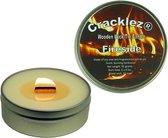 Cracklez® Knetterende Houten Lont Geur Kaars in blik Fireside. Loofhout Kampvuur Geur. Ongekleurd.