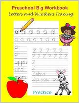 Preschool Big Workbook Letters and Number Tracing Practice