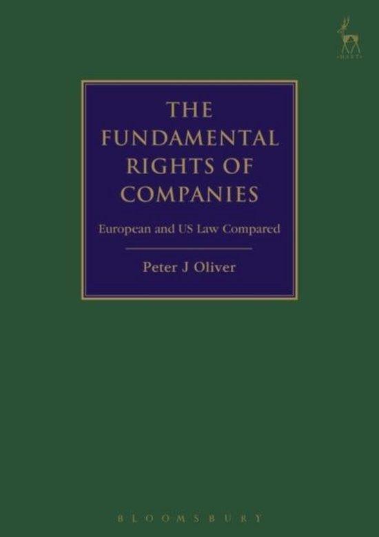 Boek cover The Fundamental Rights of Companies van Professor Peter J Oliver (Hardcover)