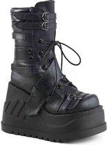 Demonia Enkellaars -39 Shoes- STOMP-26 US 9 Zwart