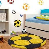 Super bol.com   Vloerkleed Kinderkamer - Voetbal - Geel & Blauw JI-72