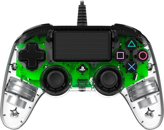 Nacon Playstation 4 Official Licensed Wired Compact LED Controller - PS4 - Groen