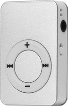 Mini MP3-speler - compatibel met Micro SD-kaart - verschillende kleuren van hoge kwaliteit zilver