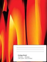 Abstract Flames Composition Notebook