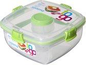 Sistema To Go Saladebox - 1,1 l - 4 compartimenten - Limoengroen