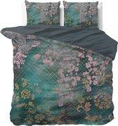 Dreamhouse Tiran Flower Dekbedovertrekset - Tweepersoons - 200x200/220 + 2 kussenslopen 60x70 - Groen
