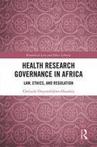 Omslag Health Research Governance in Africa