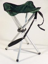 Campusit lichtgewicht camping / vis krukje - 4-poot - aluminium - Groen