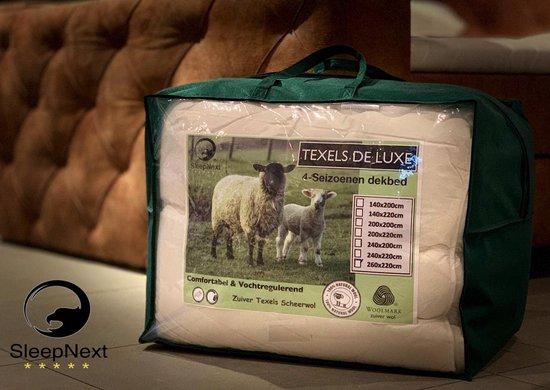 Texels de Luxe 4 seizoenen Hotel dekbed - 100% Scheerwol - 240x220