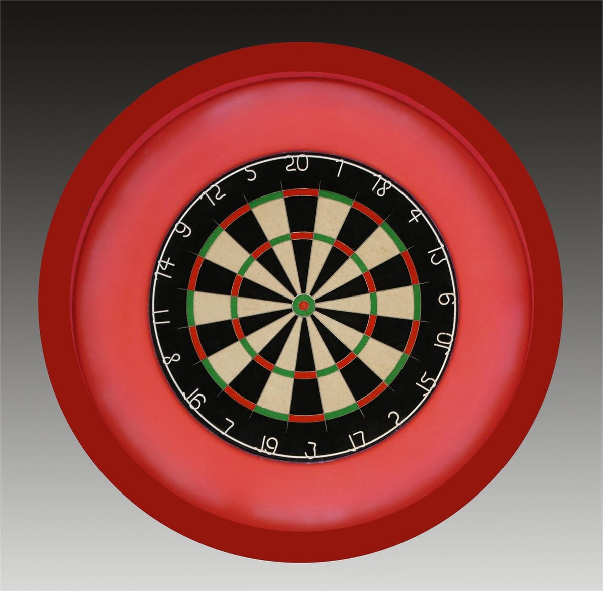 TCB XXL - Dartbord Verlichting Complete Combiset inclusief - dartbord - inclusief - dartboard surround - rood