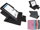 """Samsung Galaxy Tab Active Diamond Class Polkadot Hoes met 360 graden Multi-stand, blauw , merk i12Cover"""