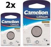 2 Stuks Camelion CR2320 lithium knoopcel batterij