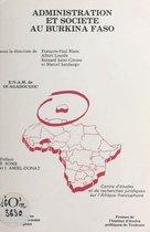 Omslag Administration et société au Burkina Faso