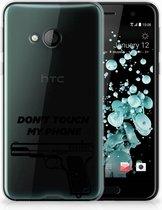 HTC U Play TPU-siliconen Hoesje Pistol DTMP