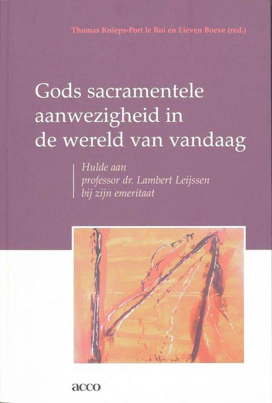 Cover van het boek 'Gods sacramentele aanwezigheid in de wereld van vandaag / druk 1'