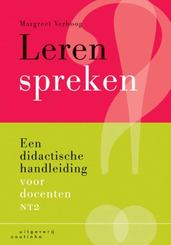 Boek cover Leren Spreken van M. Verboog