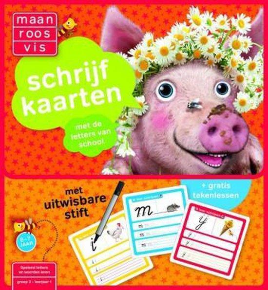 Afbeelding van Zwijsen Maan roos vis schrijfkaarten speelgoed
