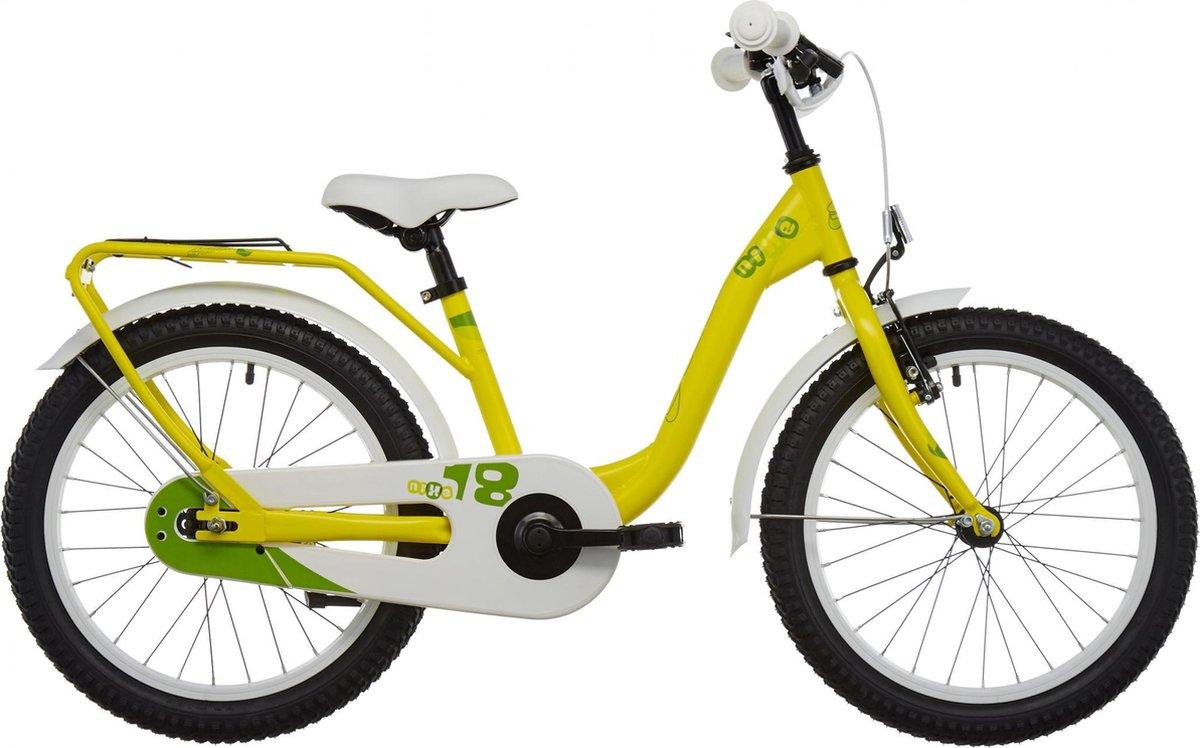 S'cool Kinderfiets – 16 inch – S'Cool niXe 18 steel yellow/green online kopen