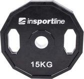 Olympische Halterschijf 50 mm - Insportline - Ruberton 15 kg