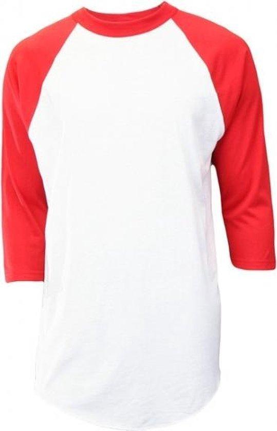 Soffe - Baseball Shirt - Kinderen - ¾ mouw - Rood - Jeugd Medium