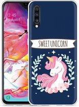 Galaxy A70 Hoesje Sweet Unicorn