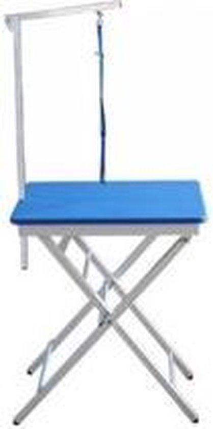 Topmast - Trimtafel - Mobiele showtafel - Verstelbaar - Blauw - 60 x 45 cm