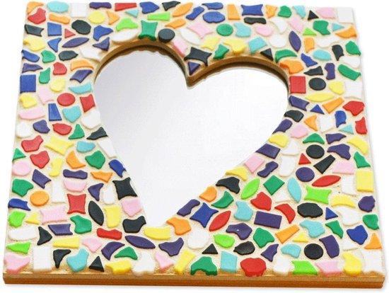 Mozaiek pakket kinderen Spiegel Hart