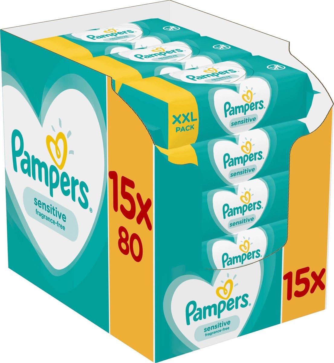 Pampers Sensitive Billendoekjes - 1200 stuks - Pampers