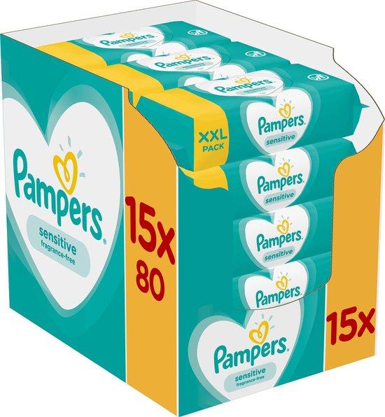 Afbeelding van Pampers Sensitive Billendoekjes - 1200 stuks