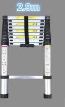 Telescopische Ladder - 10 treeds - Werkhoogte 2.90m