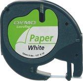Afbeelding van DYMO 91200 labeltape - Zwart op wit - Papier