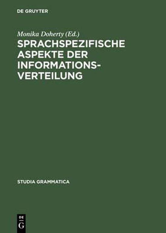 Sprachspezifische Aspekte der Informationsverteilung