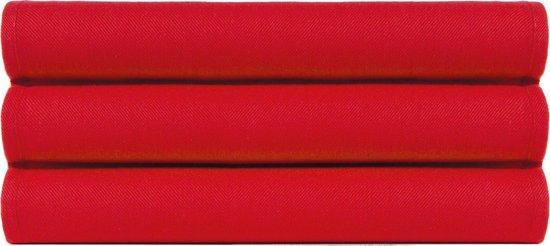 4 Stuks Theedoeken 50x70 cm Uni Pure Rood col 2307