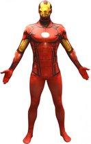 Morphsuits™ Iron Man Value Morphsuit - SecondSkin - Verkleedkleding - 146/152 cm