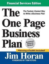 The One Page Business Plan Financial Services Edition