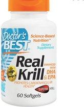 Doctor's Best Echte Krill Olie met toegevoegde DHA & EPA - 60 softgel capsules - Voedingssupplement