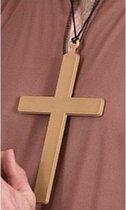 Gouden monniks/priesters kruis 22 cm