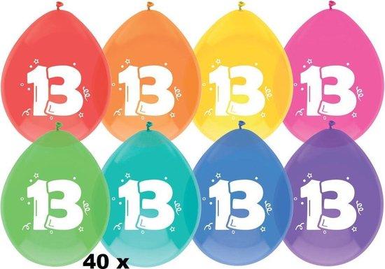 40 x ballonnen - 13 jaar -