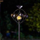 Windspinner vlinder met lichtbol - solar