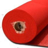 JYG  Rode Loper - Tapijt met beschermfolie 100x1000 - Rood